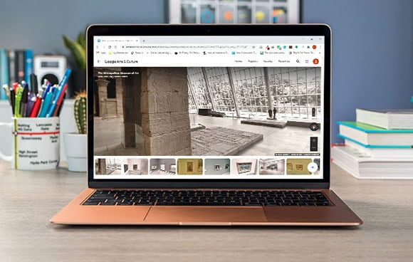 Student Laptop on Google Arts and Culture