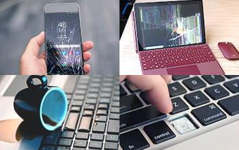 Cracked Screen, Liquid Damage, Missing Key Device Repairs